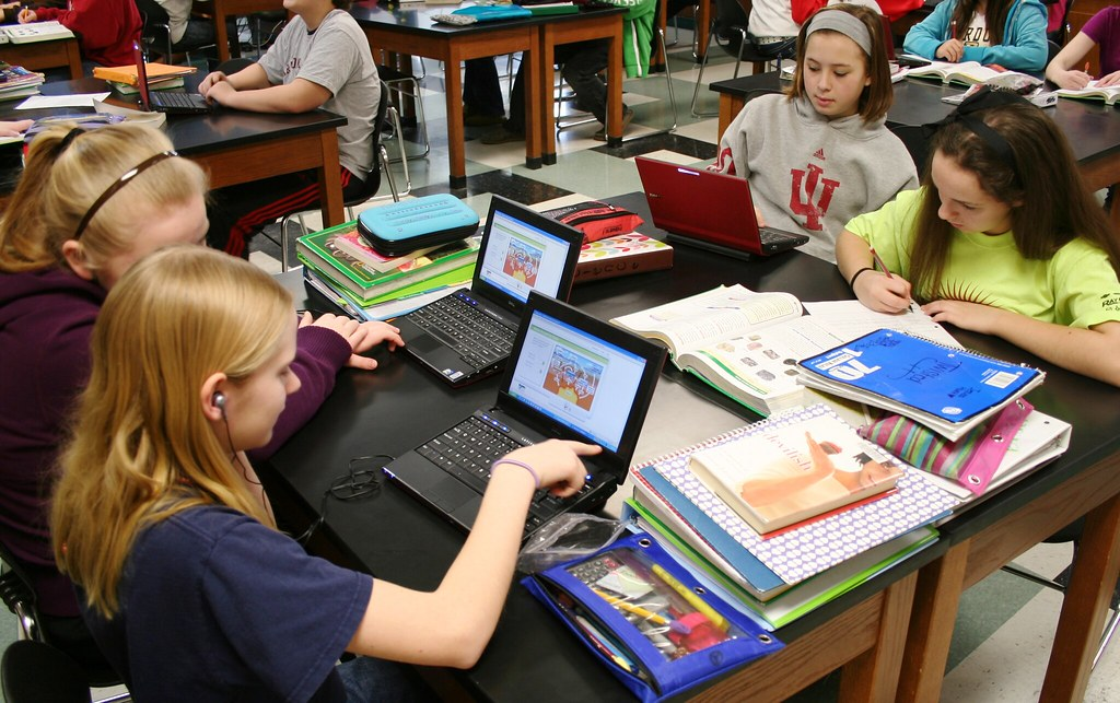 Digital Textbook students working with multiple formats